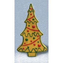 Christmas Lighted 29 in Plastic Gingerbread Tree Indoor Outdoor Home Lawn Decor