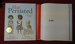 New Signed Book She Persisted Chelsea Clinton HC DJ 11 Illustrated Kids Women