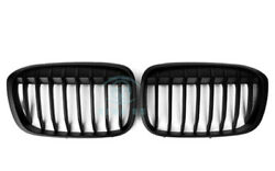 2pcs Front Grill Grille Cover Moding Trims Refit For BMW X1 F48 2016 Matte Black