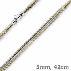 0 316in necklace scarf 3 ROWS 585 Gold Yellow-gold white-gold 16 1732In