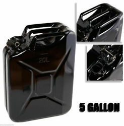 Black 5 Gallon Jerry Can Gas Fuel Steel Tank Military NATO Style 20L Storage Can $45.99