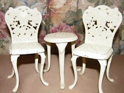 Boyds Bears Cast Iron Bistro Garden Table & Chairs Set