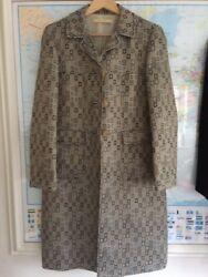 Tapestry Dress Coat by MR & MRS MACLEOD FABRIC Silk Wool Size 4014 Whistles