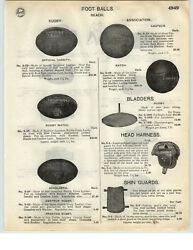 1926 PAPER AD Reach Brand Rugby Style Footballs Leather Head Harness Guard $9.98