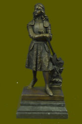 Large Bronze Statue of Joan OF ARC SIGNED Fremiet she is The Maid of Orleans Art