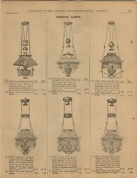 1893 PAPER AD Vintage Hanging Lamps Chandelier Avon Rival Climax Chicago Beauty $25.98