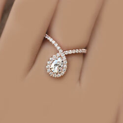 AMAZING DEAL GIA Certified Pear Cut Diamond Engagement Ring 1.90 CTW 18K
