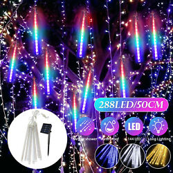30cm 144 LED Lights Meteor Shower Rain 8 Tube Tree Outdoor Light Xmas Decor USA
