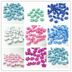 Crown Wooden Beads Spacer Bead DIY Pacifier Clip Jewelry making Kids Toys 18mm