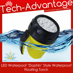 BOAT COMPACT DOLPHIN STYLE WATERPROOF FLOATING FLASHLIGHT LED BULB TORCH LIGHT AU $16.90