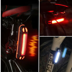 Rechargeable Bicycle Bike LED Tail Light Cycling Safety Warning Rear Lamp flash $5.40
