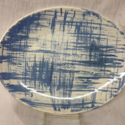 KNOWLES USA BLUE DELL OVAL SERVING PLATTER 12 12