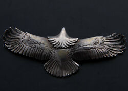 Authentic Goro's Handmade 925 Silver Big Eagle Pendant
