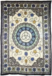 Tapestry Bedspread FLORAL TRIQUETRA Multi 72quot; x 108quot; Use on Bed Wall etc $20.58