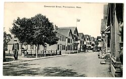Provincetown MA COMMERCIAL STREET Postcard Cape Cod USS New Hampshire Postmark