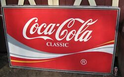 HUGE SIZE MAN CAVE PARTY BAR USA COCA COLA ADVERTISING ART LIGHT LAMP BOX SIGN