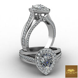 1.97ctw Brilliant Cut Pear Diamond Engagement Ring GIA F-IF White Gold Women New