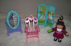 CABBAGE PATCH FURNITURE WITH SMALL MCDONALD'S FIGURE