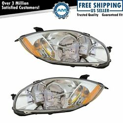 Halogen Headlight Lamp Assembly Pair LH amp; RH Sides for Mitsubishi Eclipse $119.33
