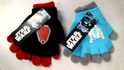Star Wars Gloves Kids Boys Convertible Double Layer Pick Your Color New $2.99