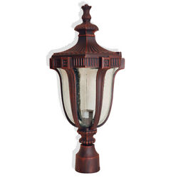 Terra-cotta Collection Finish Exterior Outdoor Lantern Light with Frost Glass