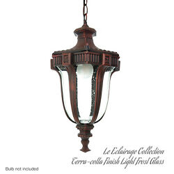 Finish Exterior Outdoor Lantern Light  Frost Glass Terra-cotta Collection