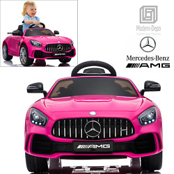 Mercedes Benz AMG GTR 12V Kids Electric Ride On Car w Remote Control Pink $179.99
