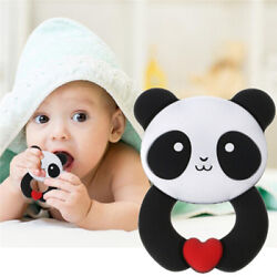 Cute Panda Shape Baby Kids Infant Soft Teether Teething Appease Chew Toys S