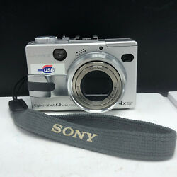 Sony digital camera vintage compact cyber shot Carl Zeiss 5.0 mp optical zoom $36.10