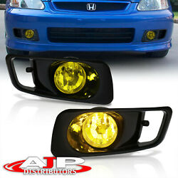 Amber Driving Bumper Fog Lights Lamps + Wiring Switch For 1999-2000 Honda Civic $42.99