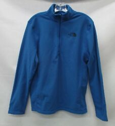North Face Mens TKA 100 Glacier 14 Zip Pullover C744 Turkish Sea Size Large