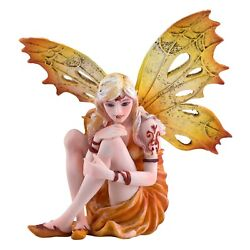 Spring Sun Orange Fairy Figurine Statue 5quot; High New In Box $33.29