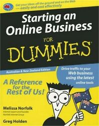 Starting an Online Business for Dummies Paperback or Softback $18.67
