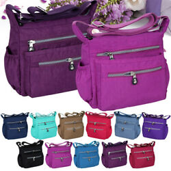 Women Messenger Travel Shoulder Bags Nylon Waterproof Crossbody Bag for School