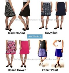 Tranquility by Colorado Clothing Reversible Skirt Pick your Color and Size NWT $7.99