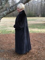 Gorgeous Natural Dark Ranch Black Brown MINK Fur Coat  1X 2X 2XL 16 18 no fox
