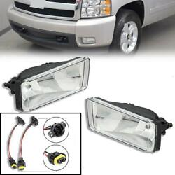 Pair For 2007 Chevy Silverado 1500 2500 HD Clear Bumper Fog Light Lamp Style $33.20