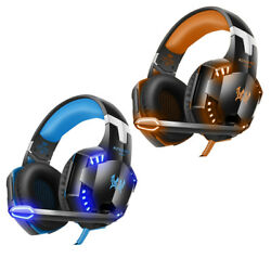 3.5mm Gaming 3D Stereo Surround Headset for Xbox One PC PS4 With Mic LED Lights $29.89