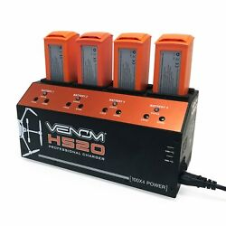 Venom Pro Yuneec H520 amp; Typhoon H 4 Port Battery Charger w Dual USB Outputs $279.99