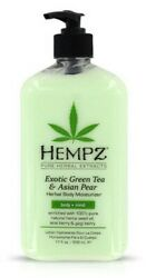 Hempz Exotic GREEN TEA AND ASIAN PEAR Herbal Body Moisturizer Lotion 17oz $13.80