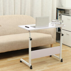 Desk Laptop Cart Rolling Computer Table Notebook Stand Tray Adjustable w Wheel $28.90