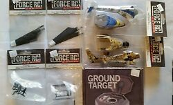 FORCE R C HELICOPTER PARTS amp; GROUND TARGET BLADESBODIESSKID amp; MOUNTFRAME NEW $65.00