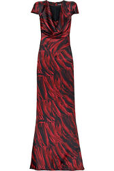Collectible 2009 Alexander Mcqueen feather print gown long dress