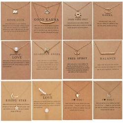 Fashion Women Animal Heart Necklace Charms Pendant Clavicle Chain Jewelry Card C $1.66
