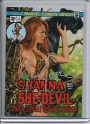 2016 Marvel Masterpieces What If AUTO #20 Shanna She-DevilJoe Jusko #d 1010
