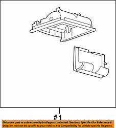 FORD OEM-Overhead Roof Console 7T4Z78519A70DA