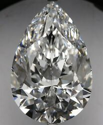 6.09 ct E Color VVS1 Clarity Pear 100% Natural Loose Diamond EX Cut GIA FL None