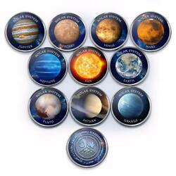 JAMRU & KASHMIR 5xNew set 10pcs 2019 Colorized Solar systems unusual
