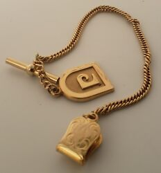 Chain PW Designer for for a vest 7quot; yellow gold filled