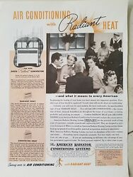 1937 American Radiator radiant heat conditioning system playing cards ad $9.99